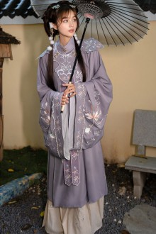"""Original Autumn And Winter Models """"Xifu Youlanming System"""" Stand-Collar Embroidery Three-Piece Hanfu Dress 2 Colors"""