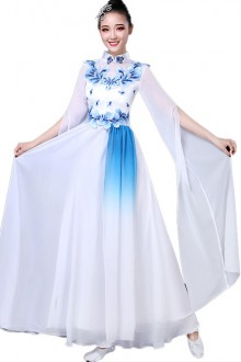 Original Design Classical Chinese Style <Blue And White Porcelain>Chinese Hanfu