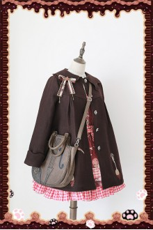 Infanta Chocolate Spoon Printing Embroidered Sweet Lolita Coat