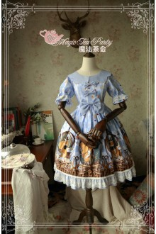 Magic Tea Party Squirrel Couple's Afternoon Original Printing Sweet Lolita OP 3 Colors