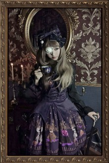 Infanta Fright Night Halloween Gothic Lolita JSK Dress 3 Colors