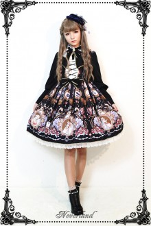 Neverland Midnight Opera House Stand Collar Long Sleeves Classic Gothic Lolita OP Dress 3 Colors