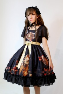 Neverland Song of Time Short Sleeves Gothic Lolita OP Dress