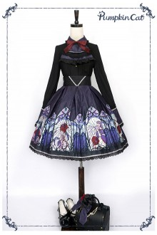 Pumpkin Cat Beauty the Rose Gothic Lolita SK Skirt