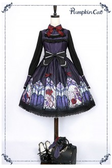 Pumpkin Cat Beauty the Rose Gothic Lolita JSK Dress