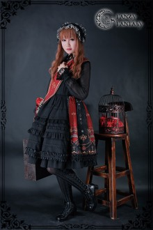 Fanzy Fantasy Diabolik Regal Aristocrat Iris Darkness Gothic Lolita JSK Dress