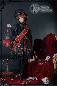 Fanzy Fantasy Diabolik Regal Aristocrat Iris Darkness Gothic Lolita OP Dress