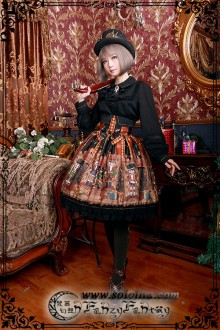 Fanzy Fantasy The Wonderful Journey of The Walnut High Waist Classic Lolita SK