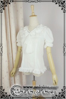 Fanzy Fantasy  Miss Tear Tannin Knight Short Sleeves Lolita Blouse