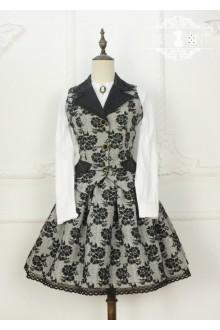 Miss Point Time Travel Vintage College Style Classic Lolita Vest + SK