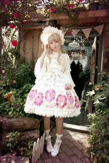 Neverland Beauty and The Beast Printing Sweet Lolita JSK Dress 4 Colors