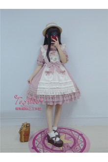 To Alice Original Honey and Clover Vintage Chiffon Sweet Lolita Dress 3 Colors