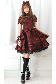 GLP Artistic Court Noble Disposition V-neck Lace Punk Gothic Lolita Dress