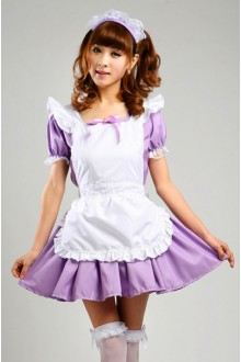 GLP Cafe Waitress Kawaii High Waist Chiffon Cosplay Lolita Maid Dresses
