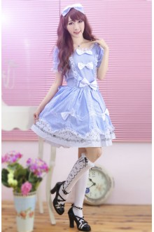 GLP Princess Bubble Dress Short Sleeves Lace Sweet Lolita Dress