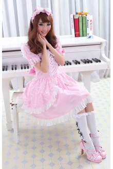 GLP Princess Dress Short Sleeves Bowknot Chiffon Sweet Lolita Dress