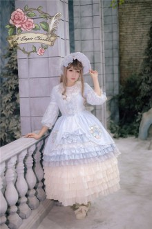 Fairydream Gorgeous Charlotte Empire Claudia's Heart Gothic and Sweet Lolita OP Dress 4 Color