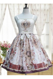 Vintage Palace Heavenly Garden Printing Chiffon Classic Lolita JSK Dress 3 Colors