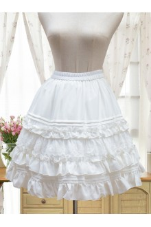 Vintage Palace Cambric Chiffon Lolita Petticoat SK Short Version and Long Version