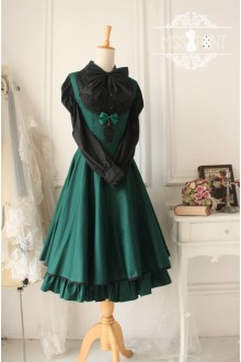 Green Cotton Sleeveless Breast Care Classic Lolita Jumper Dress