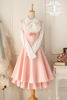 Light Pink Cotton Sleeveless Breast Care Classic Lolita Jumper Dress