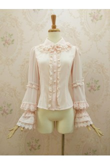 Gorgeous Lotus Leaf Edge Lace Doll Collar Lolita Blouse 4 Colors