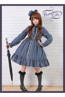 Pumpkin Cat Striped King OP Dress 3 Colors