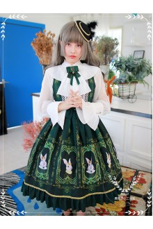MILU Original Vintage Palace Earl Rabbit Printing Classic Lolita JSK Dress