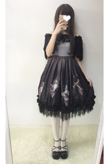 Sweet Princess Star Dust Chiffon Sweet Lolita Dress 3 Colors