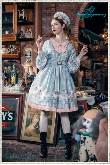 Classical Puppets Go to Travel Sweet Lolita OP Dress 3 Colors
