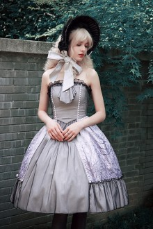 Neo Ludwig Ice Forest Silver Stardust Classic Lolita Dress