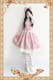 Pink Infanta Flower Merry-go-round Sweet Lolita JSK Dress