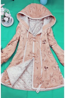 Chinese Style Hooded Suede Embroidery  Lolita Coat (Limited)