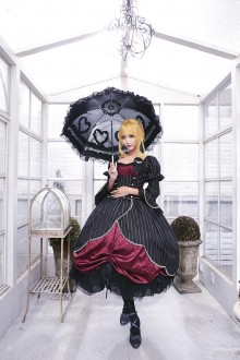 Wine Neverland Beatrice Sea Cat Crying Sweet Lolita Dress