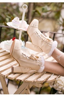 Sweet Bow Knot PU Lolita Boots 2 Colors