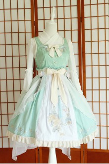 Green Chess Story Chinese Style Embroidery Sweet Lolita JSK Dress