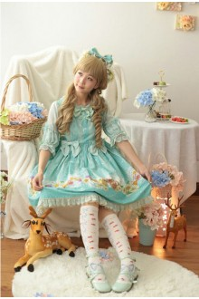 Daisy and Dandelion Chess Story Sweet Lolita OP Dress 3 Colors