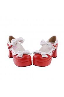 Sweet Bow Knot Girls Lolita Shoes 3 Colors