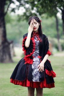 Chinese Printed Gothic Lolita Dress 2 Colors
