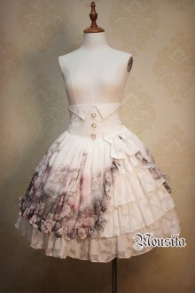 Mousita Original Design Rose Garden Sweet Lolita Skirts