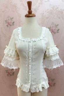 Original New Chiffon Sleeve Short Sweet Lolita Blouse 3 Colors