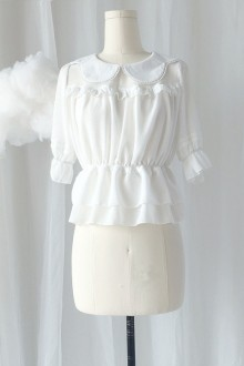 Original New Doll Collar Chiffon Sweet Lolita Blouse 2 Colors