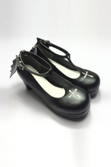 Angelic Imprint Shoes Gothic Lolita Heels Shoes