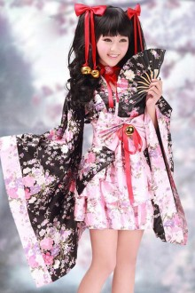 Cherry Blossoms Cosplay Kimono Lolita Dress