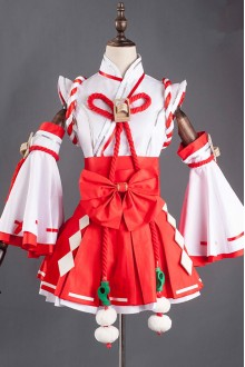 White and Red Witch Kimono Lolita Dress