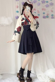"Original ""Love"" Retro Kimono Sweet Lolita Dress 2 Colors"