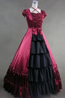Hanging Neck  Bowknot Long Gothic Lolita Prom Dress