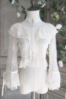 The Poetry Of Roses  Lace Elegant Sunscreen Short Classic Lolita Blouse