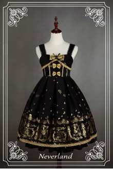 Classic Swan Lake Hot Stamping High Waist Lolita JSK