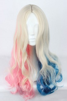 Suicide Squad Harleen Quinzel Hair Loosely Long Curly Hair Cosplay Wig